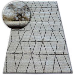 Teppich SHADOW 818 creme / hellbeige - Dreiecke