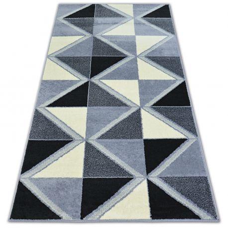 Teppich BCF BASE TRIGONAL 3974 DREIECKE schwarz/grau