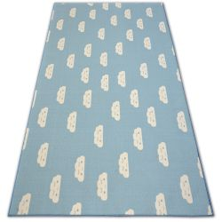 Anti-slip Carpet wall-to-wall for kids CLOUDS blue