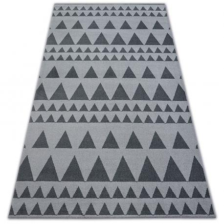 Teppich SENSE Micro 81243 Dreiecke Silber/Anthrazit