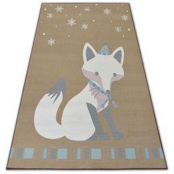 Carpet for kids LOKO Fox beige anti-slip