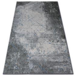 Teppich ACRYL YAZZ 6076 RISSIGER BETON blau / grau