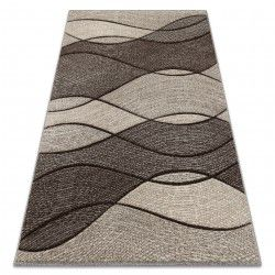 Carpet FEEL 5675/15011 WAVES brown / beige / cream