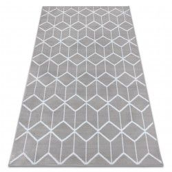 Carpet BCF ANNA Cube 2959 Squares grey