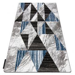 Teppich ALTER Nano Dreiecke blau