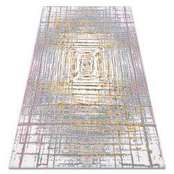 Teppich ACRYL USKUP Abstraktion 353 elfenbein / gelb