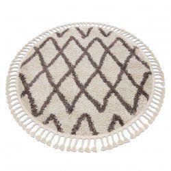Teppich BERBER BENI Kreis sahne Franse berber marokkanisch shaggy