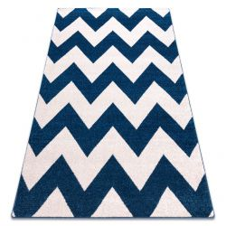 Carpet SKETCH - FA66 blue/white - Zigzag