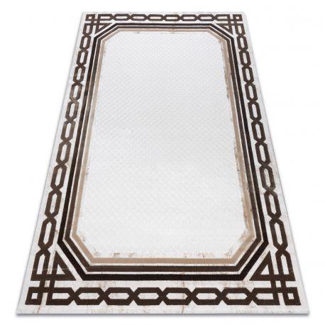 Carpet ACRYLIC VALS 0A028A C56 46 Frame geometric ivory / beige