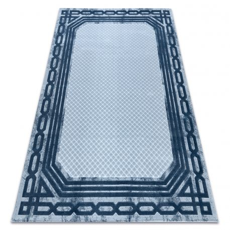 Teppich ACRYL VALS 0A028A C54 56 Rahmen Geometrisch blau