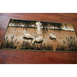 Carpet TAPESTRY - SWANS olive