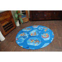 Carpet round WINNIE WOODLAND blue