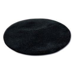 Carpet circle SHAGGY MICRO black