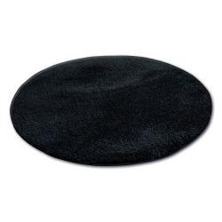 Koberec kruh SHAGGY MICRO černá