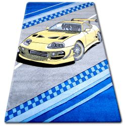 Teppich für Kinder HAPPY C222 grau Auto
