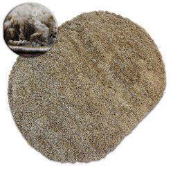 Tappeto ovale SHAGGY GALAXY 9000 chiaromarrone