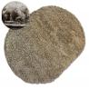 Teppich oval SHAGGY GALAXY 9000 hellbraun