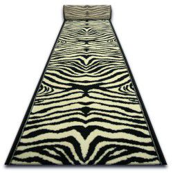Runner BCF ZEBRA cream and black