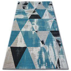 Килим ЛІСАБОН 27216/754 трикутники бірюзовий