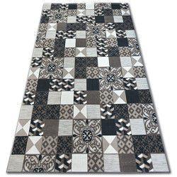 Carpet LISBOA 27218/985 Squares Plates Brown Portugal
