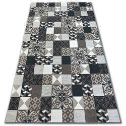 Teppich LISBOA 27218/985 Quadrate Platte Braun Portugal