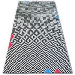 Килим шнуровий SIZAL COLOR 19306/236 діаманти квадрати чорний