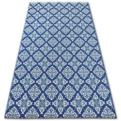 Alfombra de cuerda sisal COLOR 19246/699 Flores azul