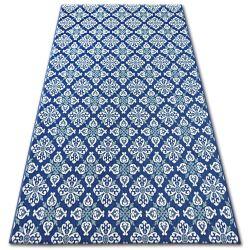 Ковер шнуровой SIZAL COLOR 19246/699 цветы синий