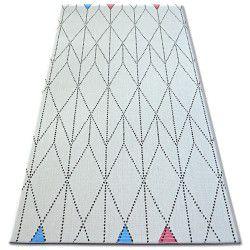 Tapis EN CORDE SIZAL COLOR 19312/236 Losanges Triangles Blanc
