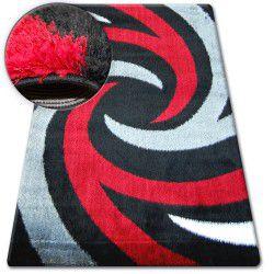 Shaggy szőnyeg verona B058 fekete/piros