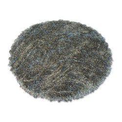 Tapis LOVE SHAGGY cercle modèle 93600 gris foncé