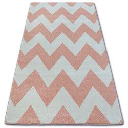 Carpet SKETCH - FA66 pink/cream - Zigzag