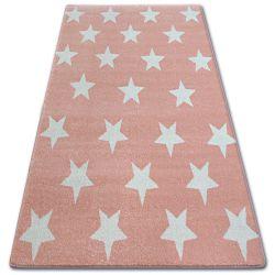 Tapis SKETCH - FA68 rose et crème - Petites étoiles Étoiles
