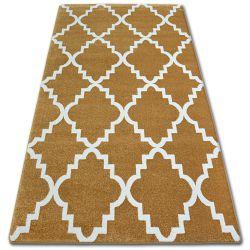 Sketch szőnyeg - F343 arany/krém Lóhere Marokkói Trellis