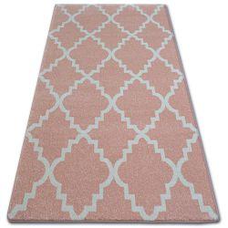 Tappeto SKETCH - F343 rosa crema marocco trifoglio trellis
