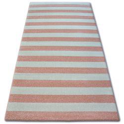 Koberec SKETCH - F758 Pásy růžový /krémový