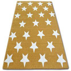 Tapete SKETCH - FA68 dourado/creme - Estrelas Estrelinhas