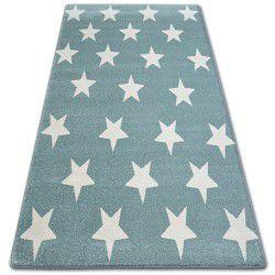 Tapis SKETCH - FA68 turquois et crème - Petites étoiles Étoiles