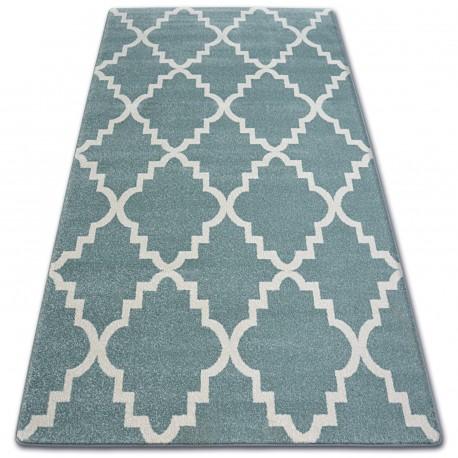Carpet SKETCH - F343 turquoise/cream trellis