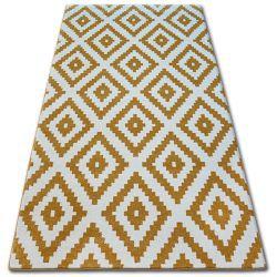 Sketch szőnyeg - F998 arany/krém - Négyzetek Ruta