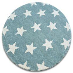 Ковер SKETCH колесо - FA68 бирюзовый/кремовый - звезды
