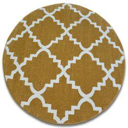 Sketch szőnyeg kör - F343 arany/krém Lóhere Marokkói Trellis