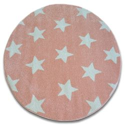 Covor Sketch rotund - FA68 roz și crem - Stea Stele