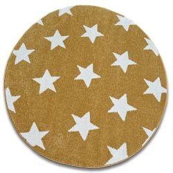 Dywan SKETCH koło - FA68 złoto/kremowy - Gwiazdki Gwiazdy