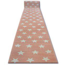 Chodnik SKETCH - FA68 różowo/kremowy - Gwiazdki Gwiazdy