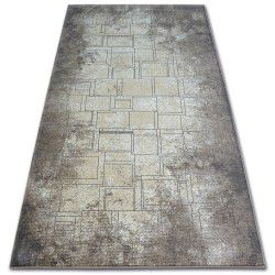 Carpet ARGENT - W2601 Squares Rectangle blue / beige