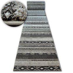 Килим Лущув SHADOW 1835 кремовий / коричневий - діаманти