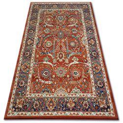 Carpet VERA 4561 Flowers terra / blue WOOL