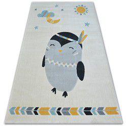 Килим PASTEL 18401/062 - пінгвін кремовий