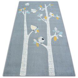 Carpet PASTEL 18405/072 - BIRDS grey